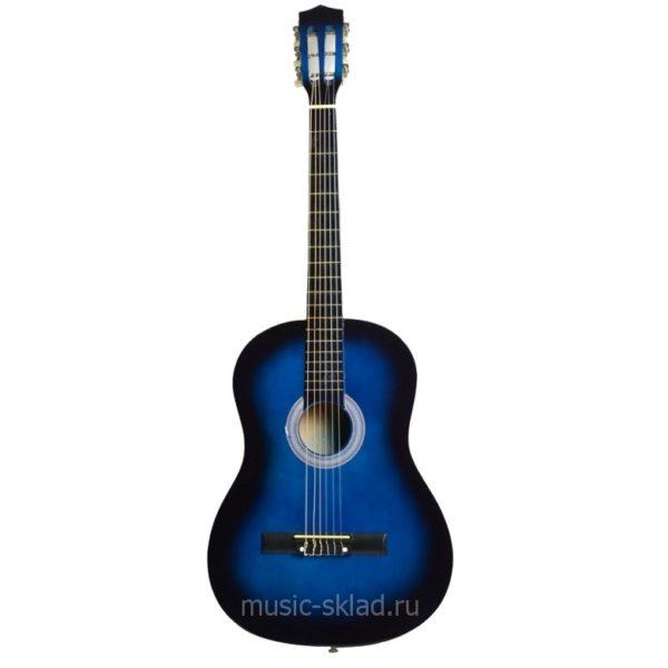 Профессиональная Акустическая Классическая Синяя Гитара Pick-String