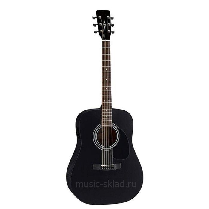 Акустическая гитара - черная Parkwood-W81-BKS