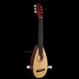 Гитара овальная с чехлом S1250-Travel-Guitar-Hora