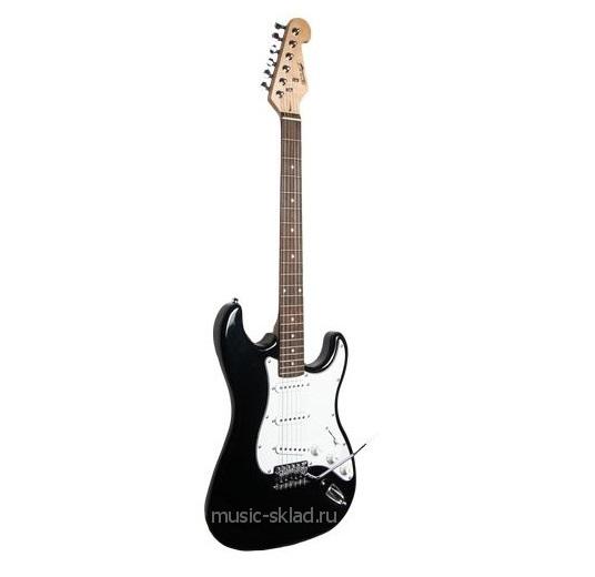 Электрогитара Stratocaster Fender Style BK с чехлом