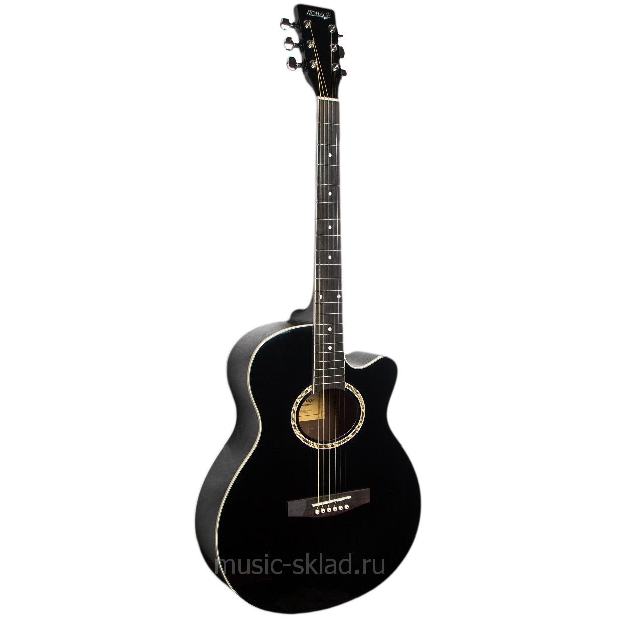 Большая акустическая гитара Homage LF-401C с чехлом