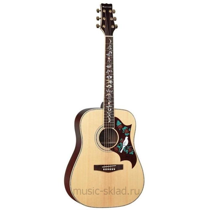 Акустическая гитара премиум класса Martinez FAW 815